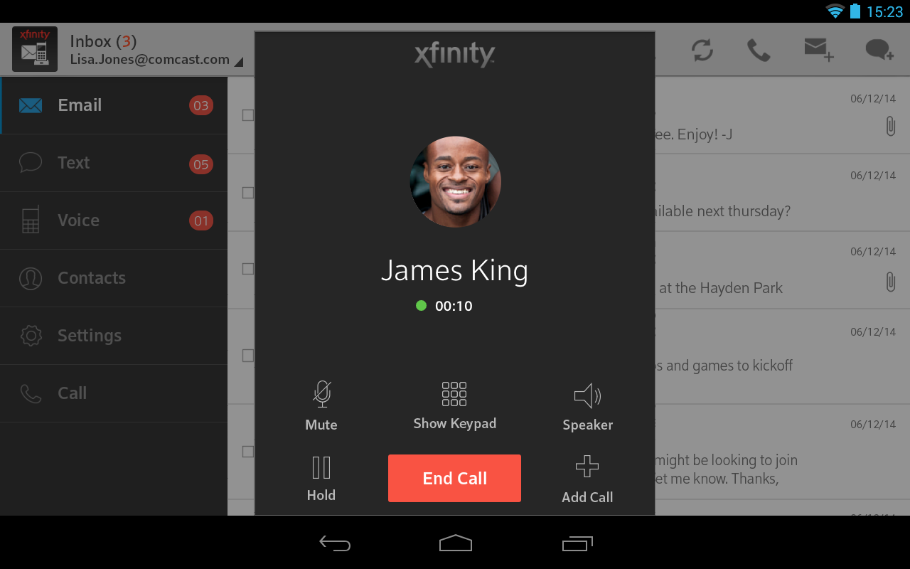 XFINITY Connect - screenshot