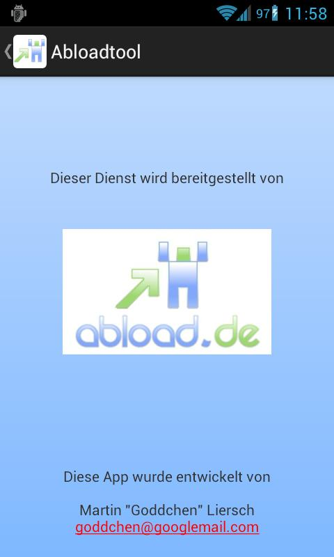 Abloadtool (abload.de)- screenshot