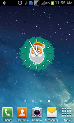 Christmas Widget Clock