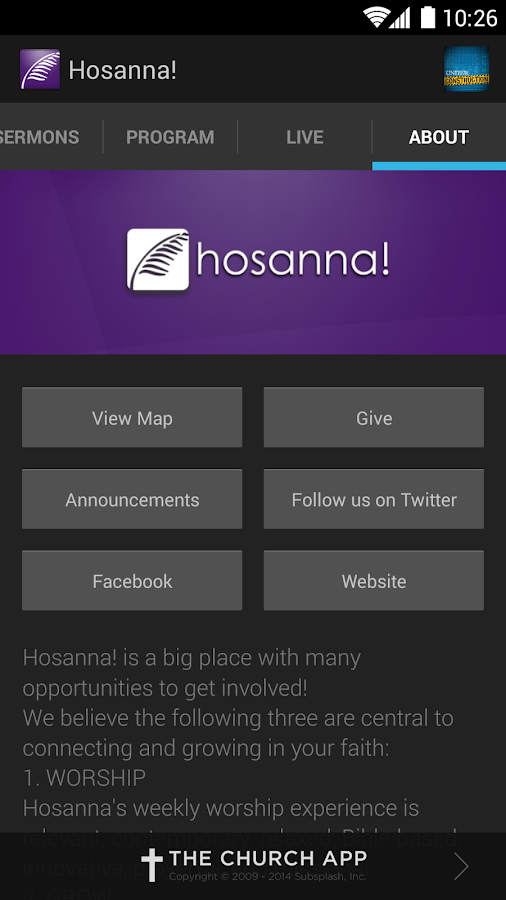 Hosanna! Church - screenshot