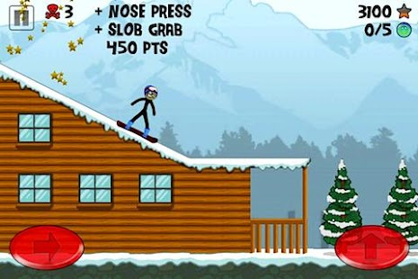 Stickman Snowboarder - screenshot thumbnail