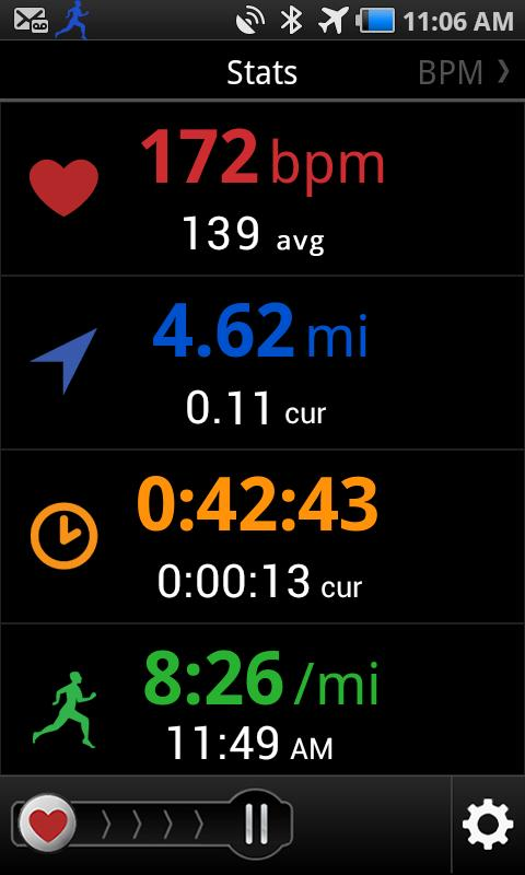 iRunner GPS Heart Rate Trainer- screenshot