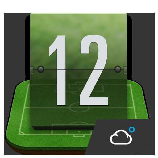 天氣App 綠蔭﹣足球主題時鐘天氣小工具﹣琥珀天氣,最贊的天氣小工具! LOGO-3C達人阿輝的APP