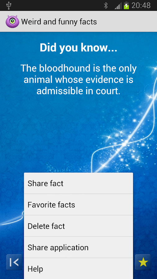 Weird and funny facts - screenshot