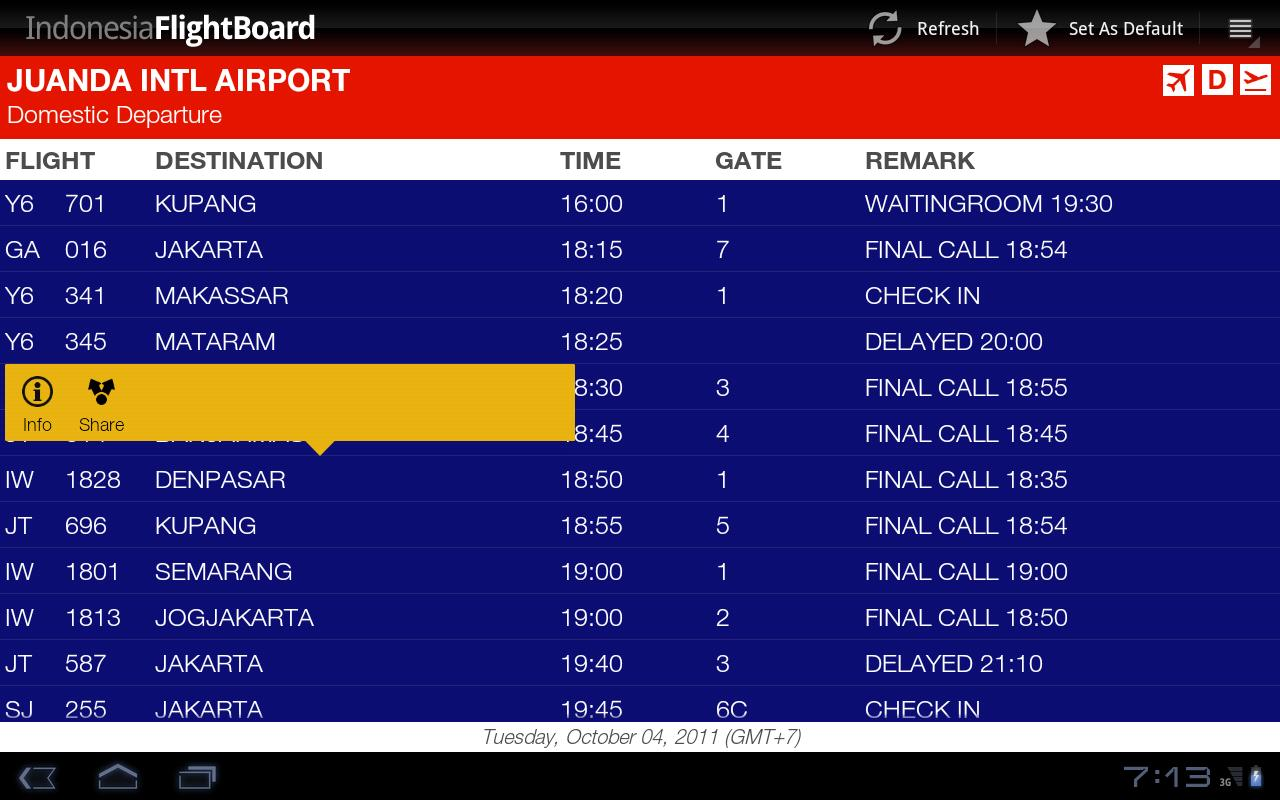 Indonesia FlightBoard- screenshot