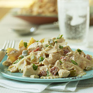 Mexican Bow-tie Pasta with Chicken.