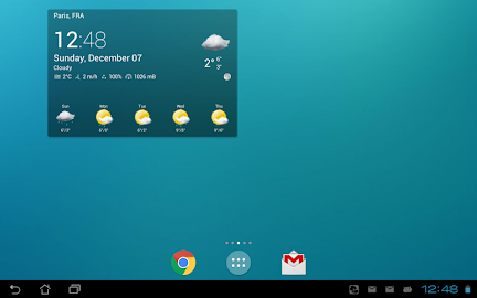 Transparent clock & weather Screenshot 1