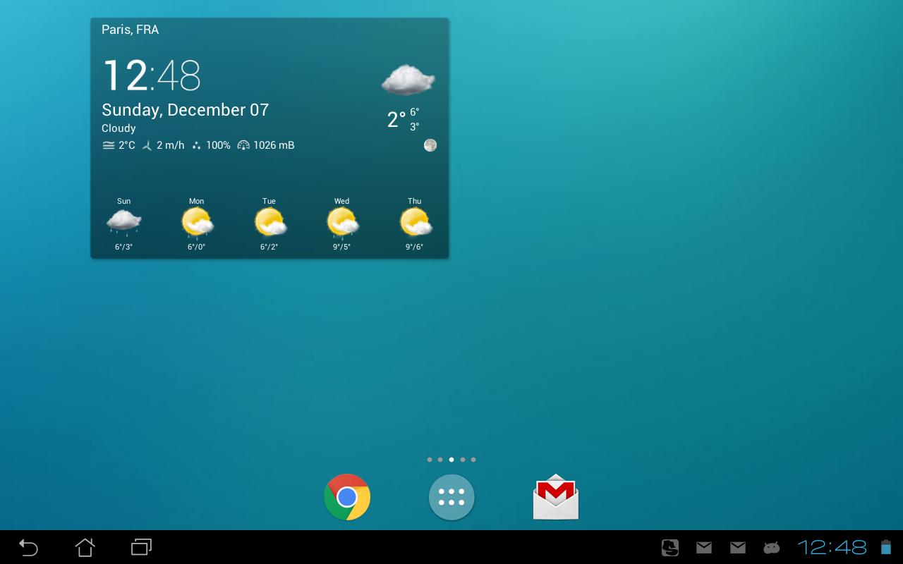 Transparent clock & weather - screenshot