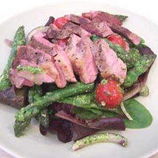 Lamb With Baby Vegetables, Artichoke Hearts And Pesto Dressing