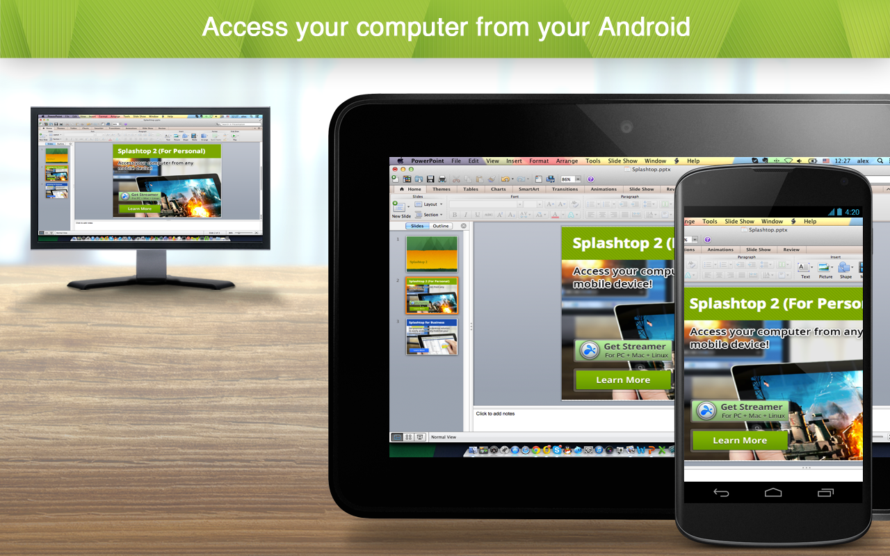 Phone Remote Desktop Using Android Phone splashtop 2 remote desktop android apps on google play screenshot