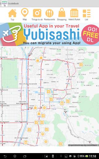 【免費旅遊App】YUBISASHI KYOTO touch&talk-APP點子