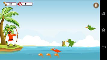 Screenshot of Birds Hunter Beach Archer