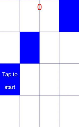 Don't Tap White - Blue Tile