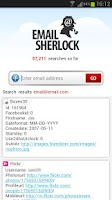 Screenshot of Email Search by EmailSherlock