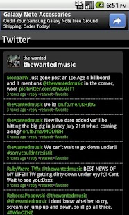 The Wanted Fan App - screenshot thumbnail