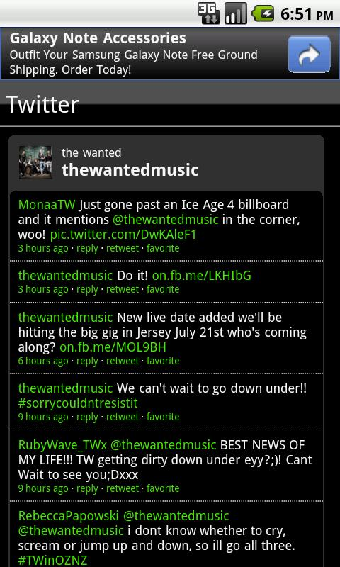 The Wanted Fan App - screenshot