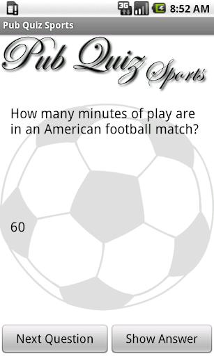 Pub Quiz Sports Free