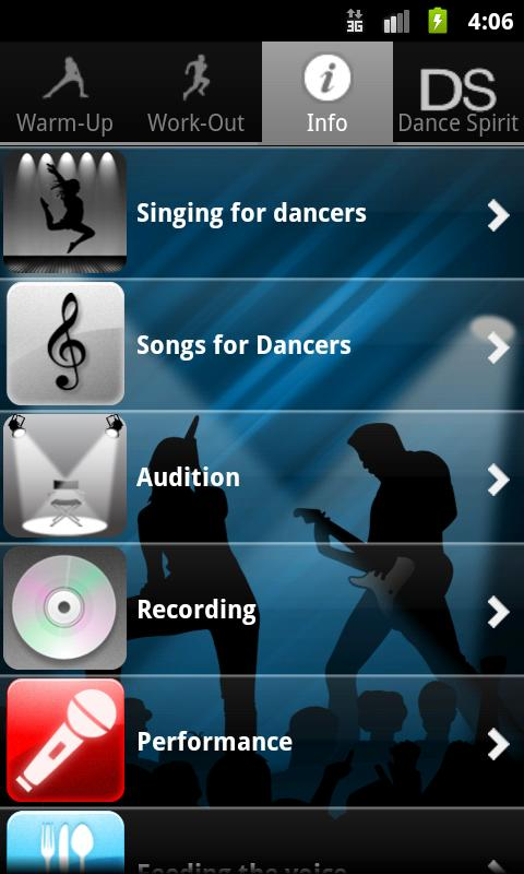 Singing for Dancers, Female - screenshot