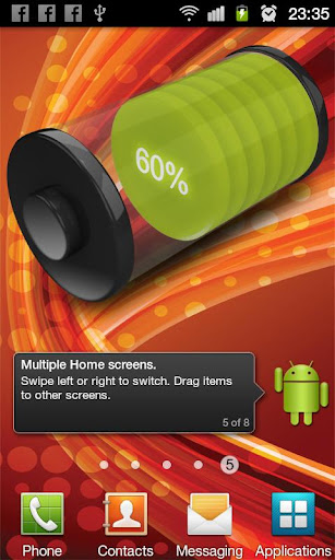 Download 3D Design Battery Widget v1.0 APK