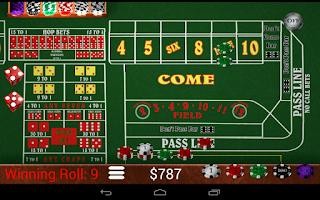 Screenshot of Craps Trainer