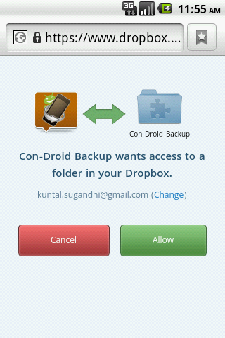 Con-Droid Backup Utility - screenshot