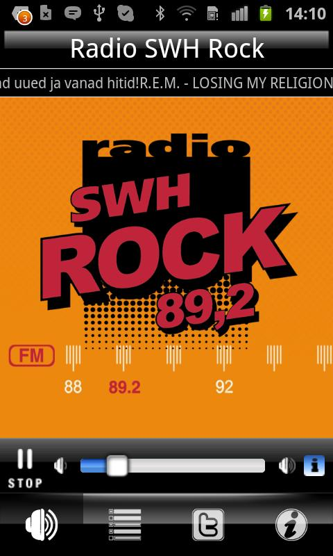 Radio SWH Rock 89.2 FM - screenshot
