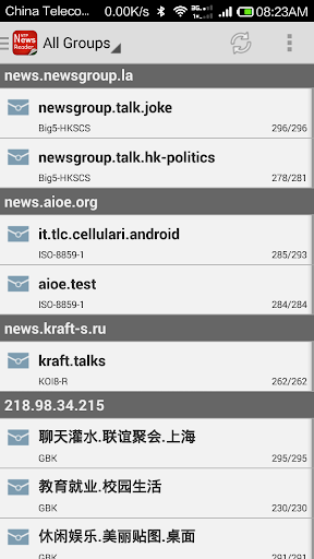 NewsGroup Reader
