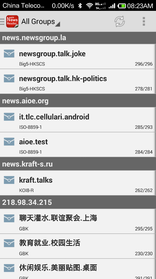 NewsGroup Reader- screenshot