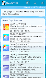 Weather HK Hong Kong & Widget screenshot 11