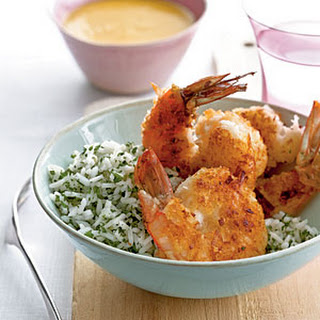 Coconut Shrimp with Fiery Mango Sauce.