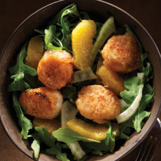 Spicy Cayenne–Dusted Scallops with Orange Fennel Salad