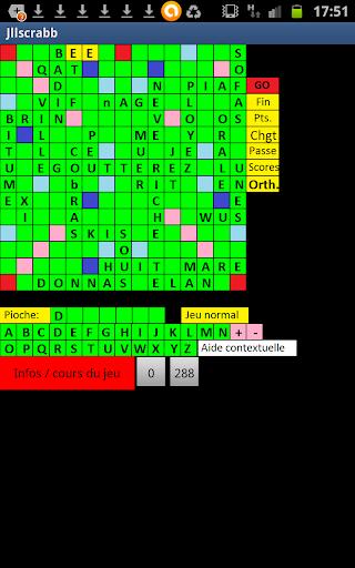 Scrabble réseau et solitaire