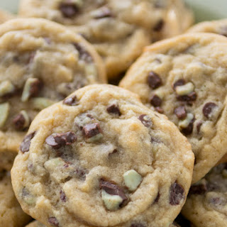 Mint Chip Chocolate Chip Cookies