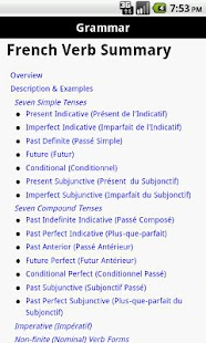 PenguinRoot French Verbs FREE - screenshot thumbnail