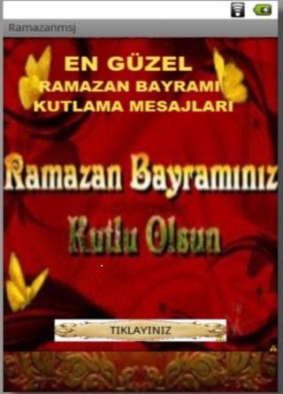 RAMAZAN BAYRAM TEBRİK MESAJLAR