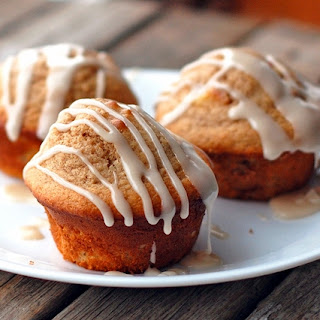 Small Batch Vanilla-Glazed Apple Cinnamon Muffins.