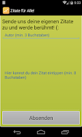 Screenshot of Zitate für Alle