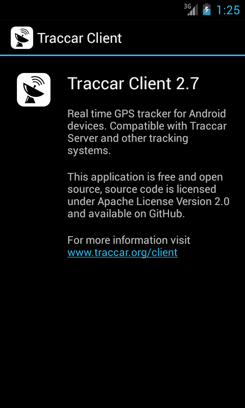 Traccar Client - screenshot