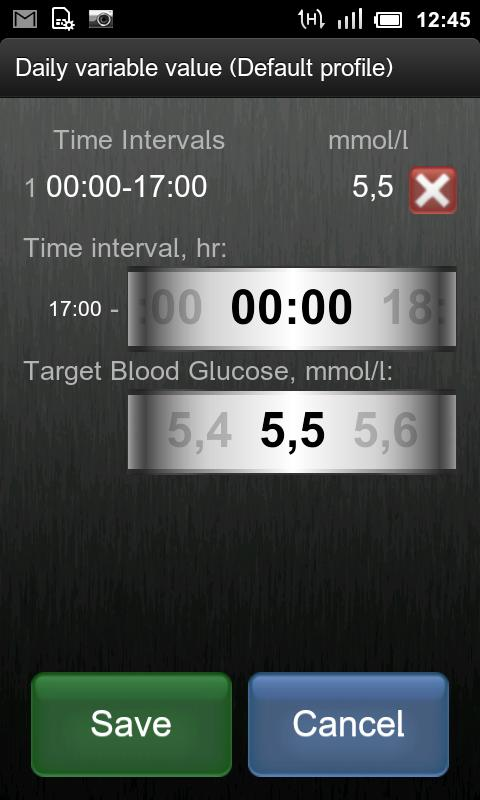 Insulin Bolus Calculator - screenshot