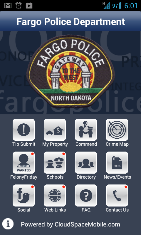Fargo Police Department- screenshot