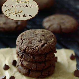 Ultimate Paleo Double Chocolate Chip Cookies.