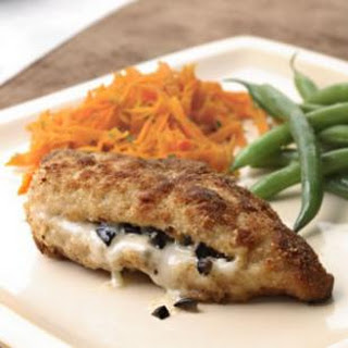 Provolone & Olive Stuffed Chicken Breasts.