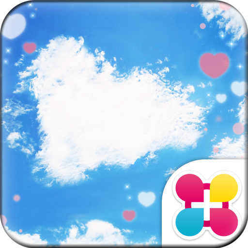 青空のハート模様 for[+]HOMEきせかえテーマ Icon