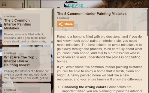 Brewer Home Improvements- screenshot thumbnail