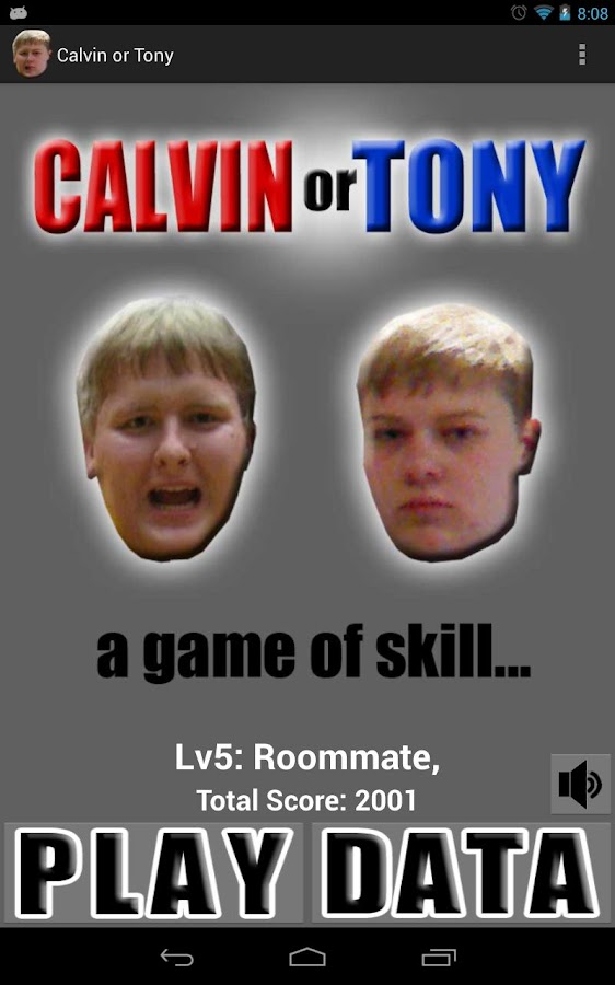 Calvin or Tony- screenshot