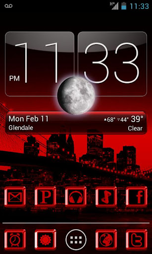 RED LUXURY ADW Apex Nova Theme