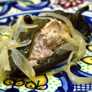 Marinated Poblano Chilies Stuffed with Tuna.