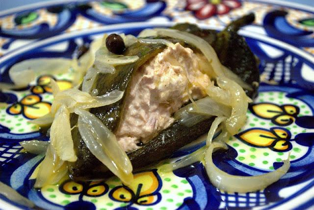 Marinated Poblano Chilies Stuffed with Tuna