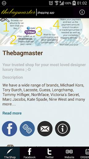 Thebagmaster Shopping App