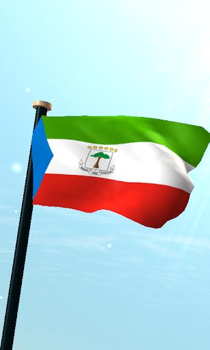 赤道幾內亞旗3D免費動態桌布